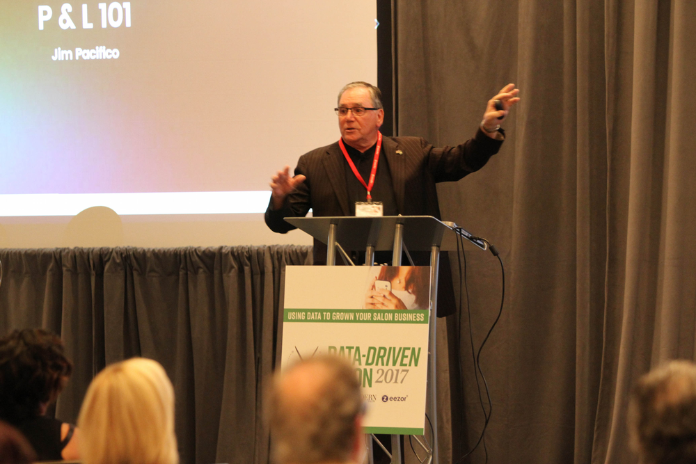 World Class Financial's Jim Pacifico took attendees through the nuances of the salon P&L statement.