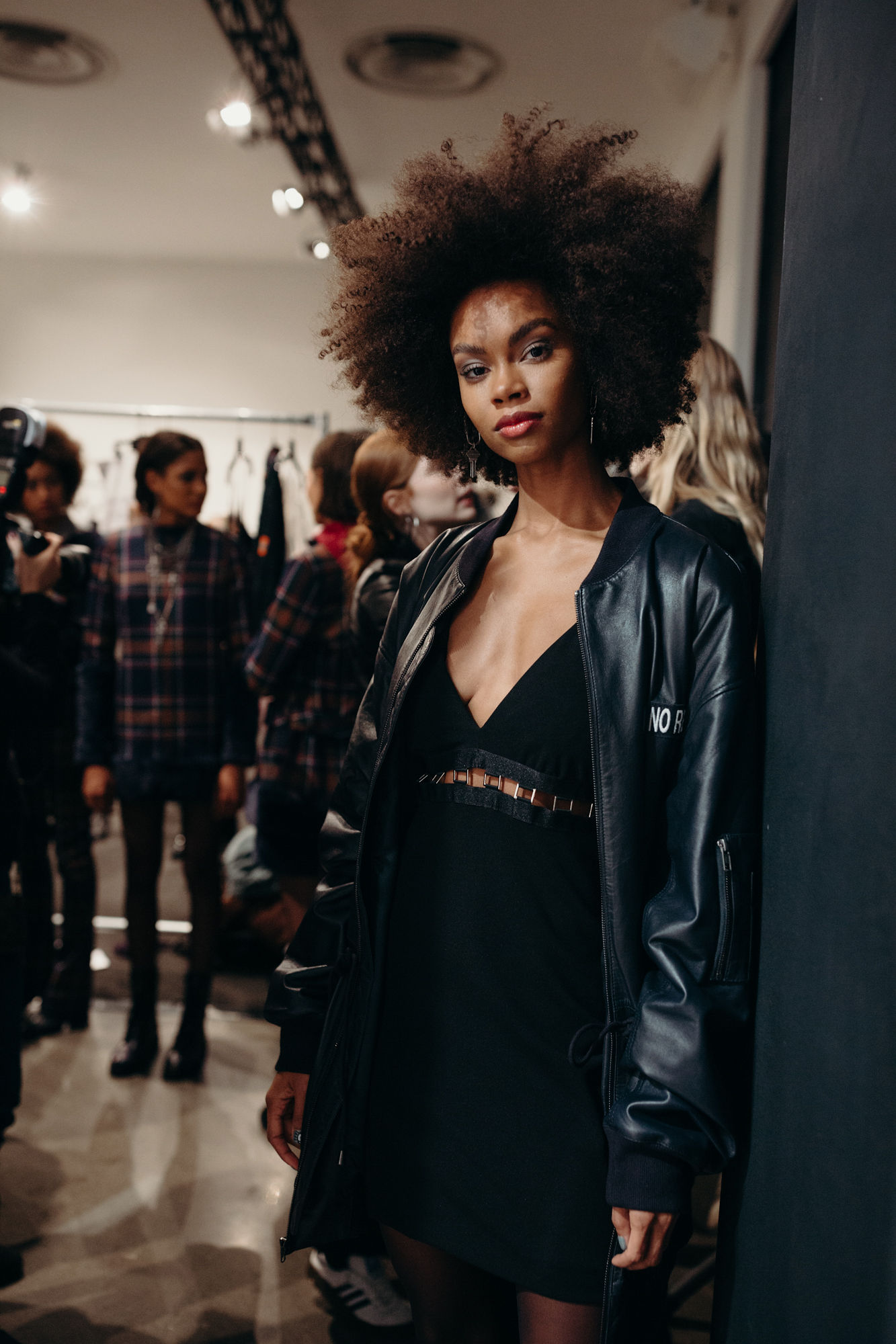 Texture by Oribe at Nicole Miller F/W 2019