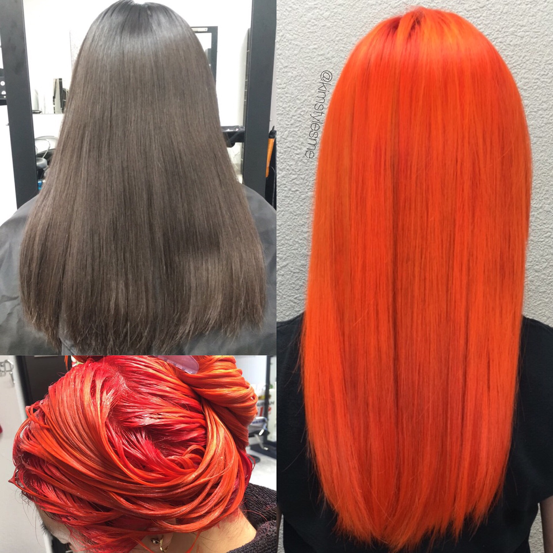 Deep Brown to Bright Orange! Lovely!