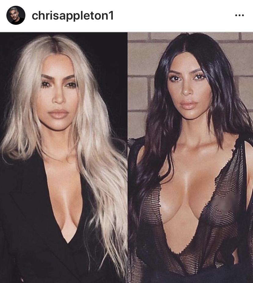 Kim Kardashian - hair by Chris Appleton.