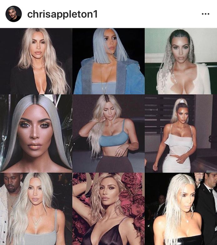Kim Kardashian - hair by Chris Appleton.