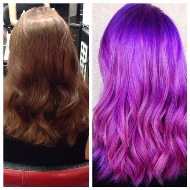 Fashion Fade To Purple/Blue Melt. WOW!