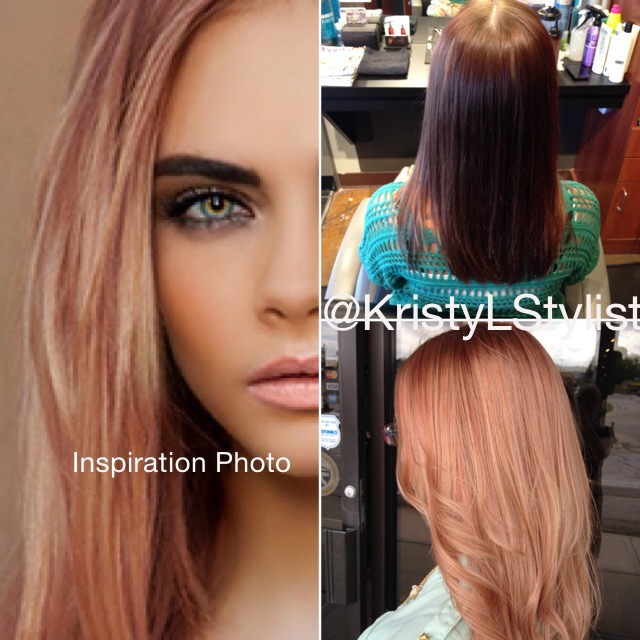 GOING FOR IT: Spring Rose Gold