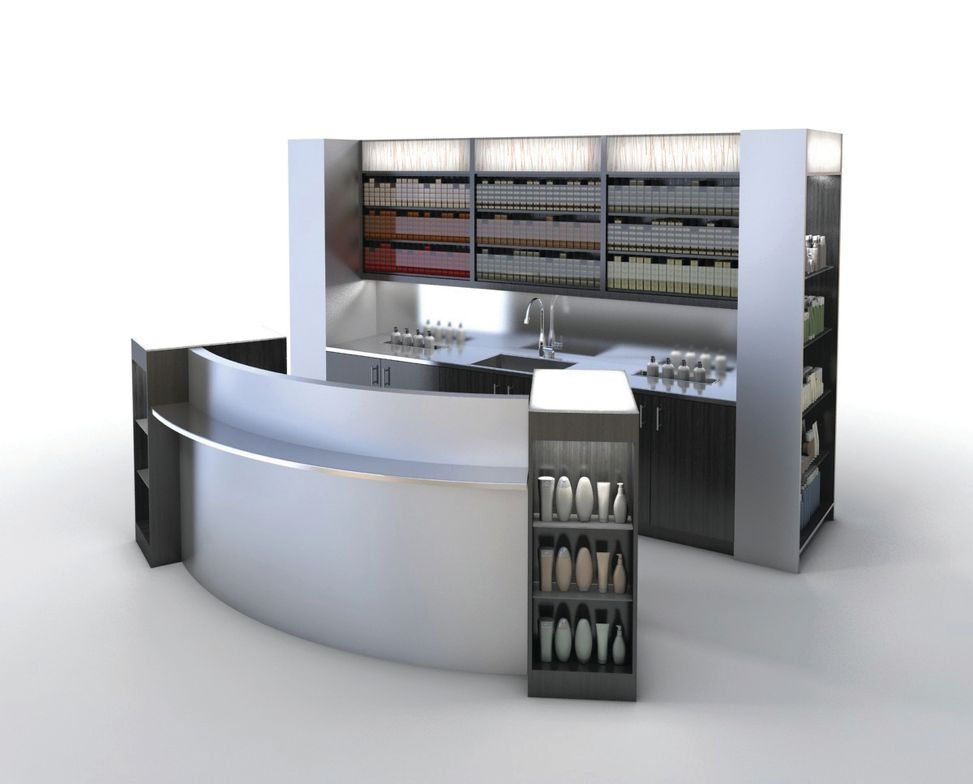 The Magnifico Color Lab and Consultation Bar from Kaemark