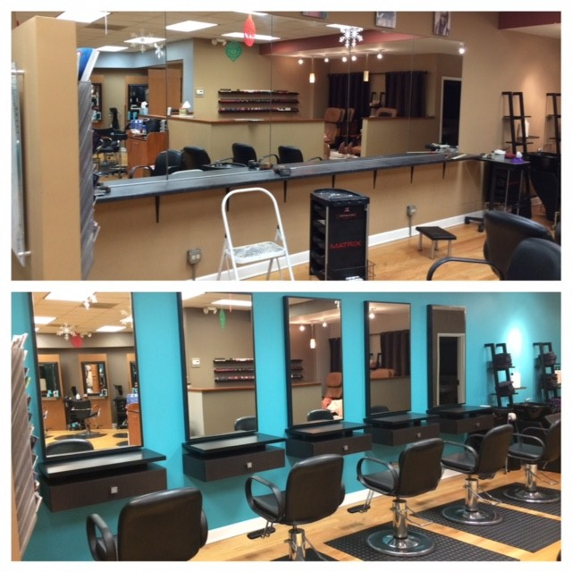 Salon Today's 2015 Total Salon Makeover Winner Estelle Bouras decided to spend the bulk of her design package on creating a new color area for Jon Kailey Salon in Wilmette, Illinois. New stations and mirrors were installed and a vibrant new teal color adds energy to the space.