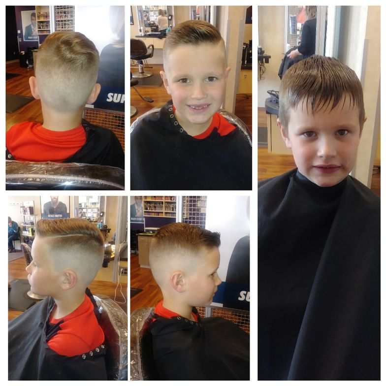 <p><strong>Thumbs up to Katie Grant, who was one of the grand prize winners for this cute entry in the Men's Cut &amp; Style category in 2018.</strong></p>