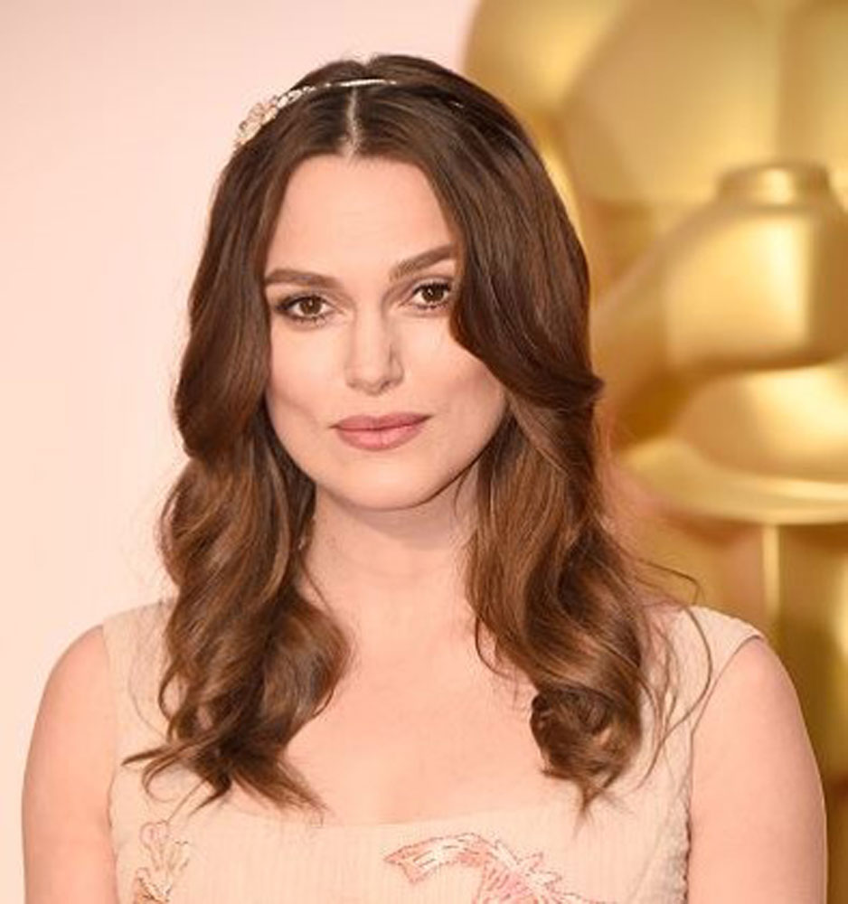 Keira Knightley's Oscars 2015 hair, styled by Ben Skervin for ghd.