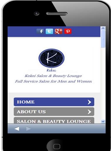 2013 STAMP Mobile Site Winner: Kekei Salon and Beauty Lounge