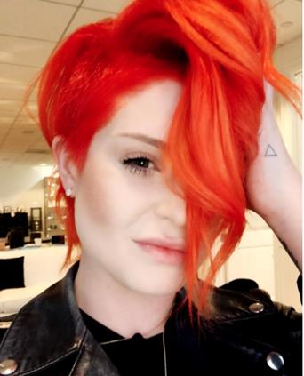 Kelly Osburne Goes Firey-Orange with Pravana Vivids