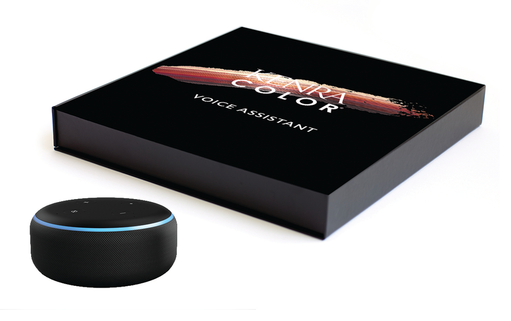 The Kenra voice assistant box.