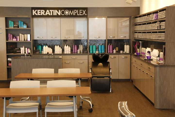 KERATIN COMPLEX: New Salon, New Space, New Look on Shelf