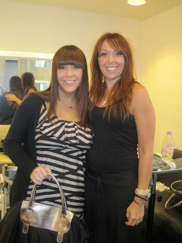 Me, with my stylist for the day, Brooke Ingram, stylist/extension specialist at Studio 110 Salon.