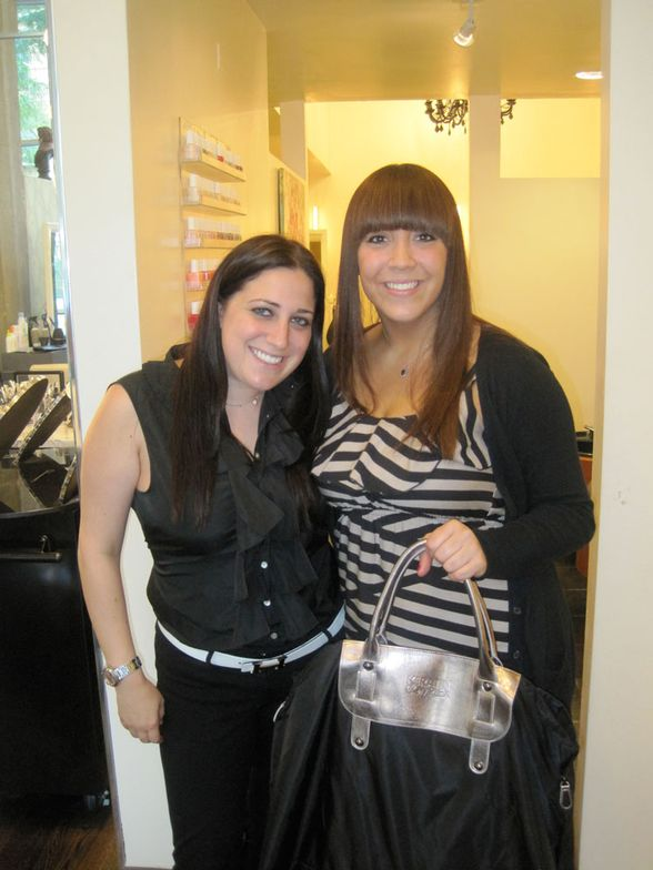 Me, after my Keratin Complex Express Blowout, with Lindsay Solomon of Keratin Complex!