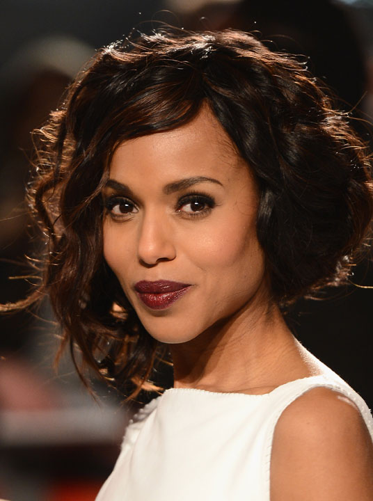 Kerry Washington with a faux bob (photo credit: Getty Images)