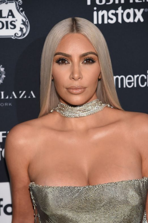 <p>Stylist Chris Appleton is responsible for Kim Kardashian West's silvery white hue, shown here in September during New York Fashion Week.</p>