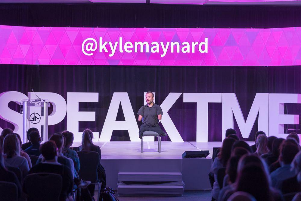 Kyle Maynard inspired at TME.