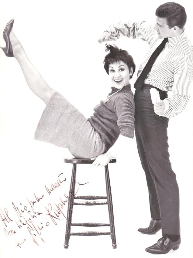 "<p>Raphael's scintillating scissors in action cutting the hair of Chita Rivera, star of the ""West Side Story"" Musical, Raphael &amp; Leonard, London, 1962/63. Photo: Courtesy Renato Santarossa</p>"