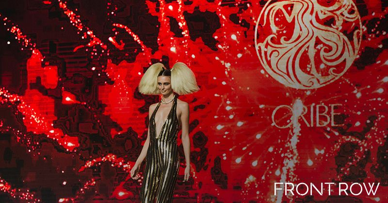 ORIBE artist Kien Hoang shared looks from his NYFW show The Blonds for the Grand Finale on opening night.