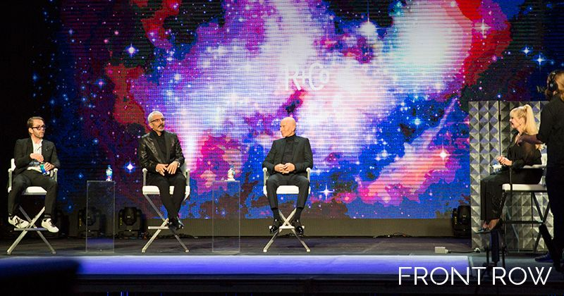 """MODERN's Beauty and Fashion Director Maggie Mulhern moderated the R&Co panel featuring the all star """"collective"""", from left: Howard McLaren, Thom Priano and Garren."""