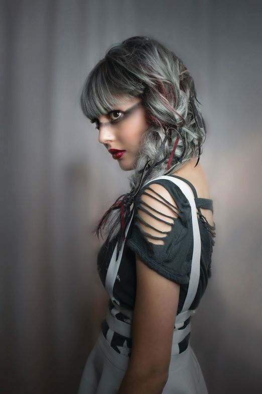 <p>Hair: Charlene Purdomme</p> <p>Makeup: Jalia Pettis</p> <p>Photographer: Russ Mezikofsky</p> <p>Model: Hannah Mackie</p> <p>Head and neck cancer</p>