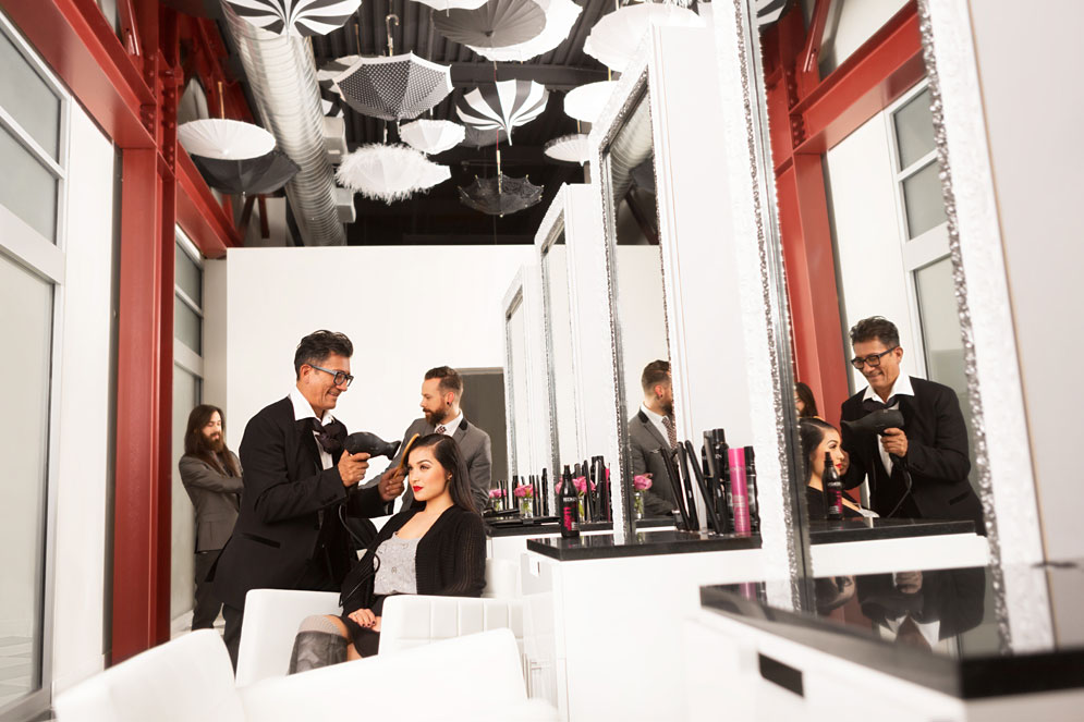 Sam Villa's HairShow Blowout Bar at LOOK Style Society in Las Vegas