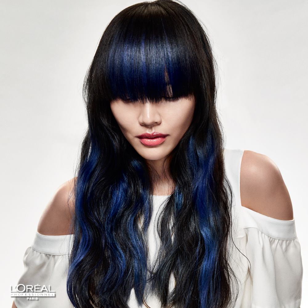 HOW-TO: Navy #BLUEOMBRE Hair Color by L'Oreal Professionnel