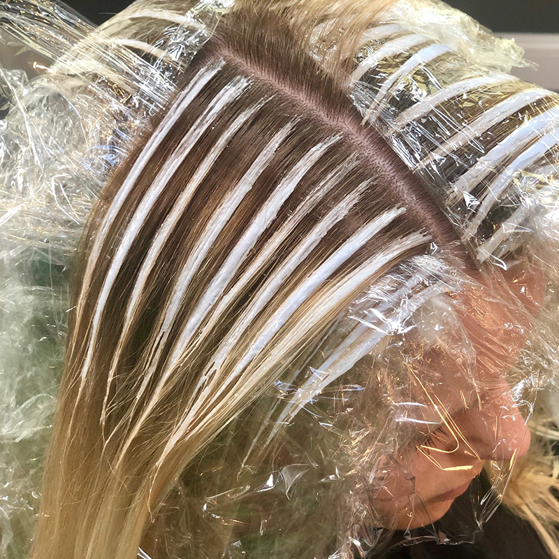 <p>Work in wide sections to make the most impact on a bob haircut.</p>