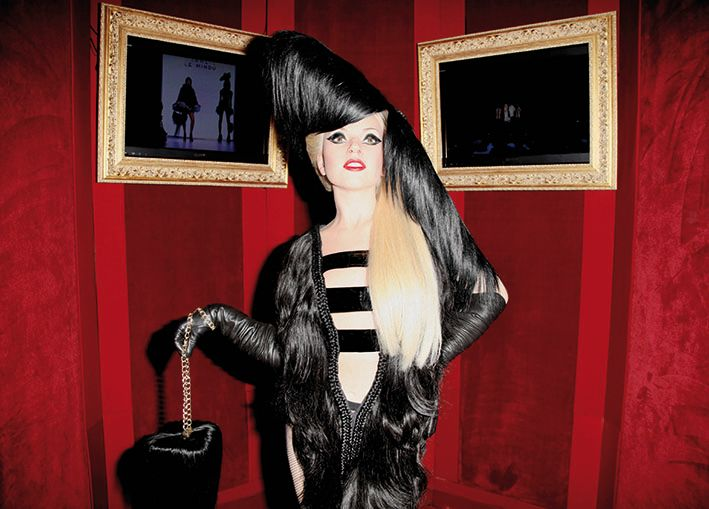 Lady Gaga wax figure crowned with Hairdreams at Grévin Museum
