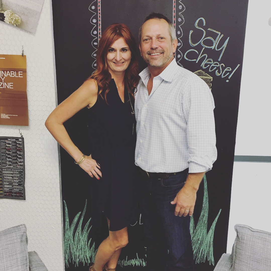LAKME USA Vice President Colleen Martorano and Anthony Cox, owner of Modern Salon Services