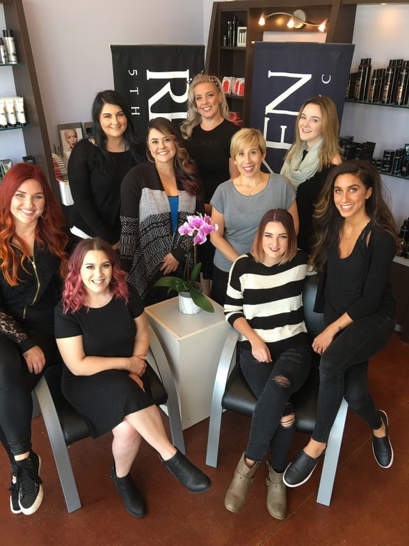 The team from Lavish Color Salon in Cleveland, OH.