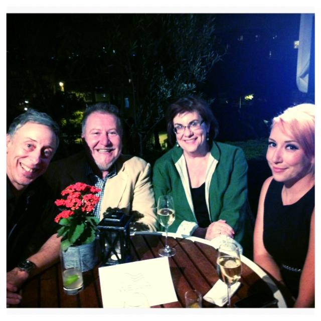 Nick Berardi, Fabio Sementilli, Mary Atherton, Jody LaMay at the Wella table.