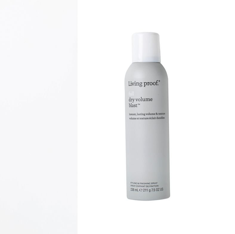 <strong>LIVING PROOF Full Dry Volume Blast:</strong> Shaking activates lightweight particles that help create full volume and texture without added weight.