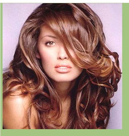 Nioxin ad with long hair.