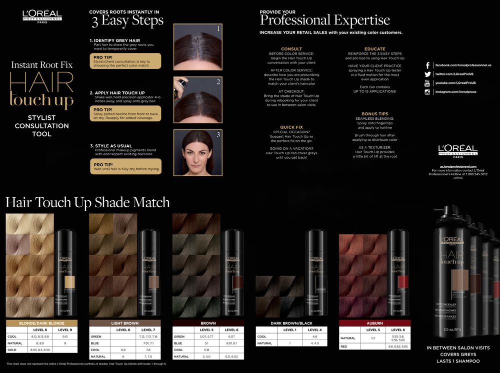 L'Oréal Professionnel's Hair Touch Up Stylist Consultation tool