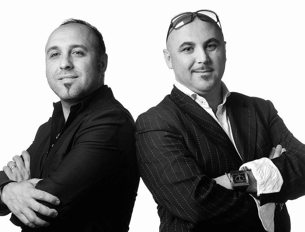 (Right to left) Piero and Luigi Pirri, owners of TONI&GUY Hairdressing Salon in Greenwich, CT.