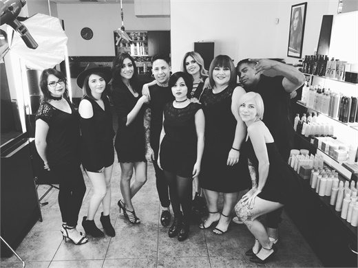 The team from 360 The Colour Bar Salon in El Paso, TX.