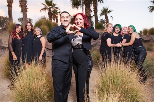 The team from Agape Salon & Spa in Rancho Mirage, California.