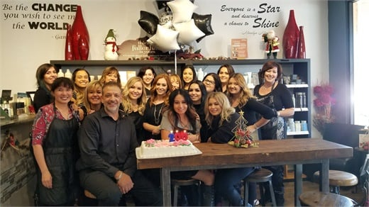The team from Anasa Hair Studio in Temecula, California.