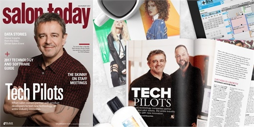 The Salon Today cover feature on Nick Arrojo and STX Software.