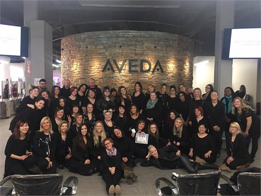 The team from the Aveda Institute Denver in Denver, Colorado.