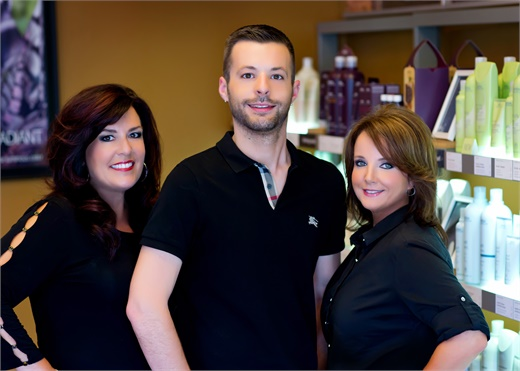 Linda Springs, Blake Springs and Becky Davidson of Belladona Salon & Spa in Cape Girardeau, MO.