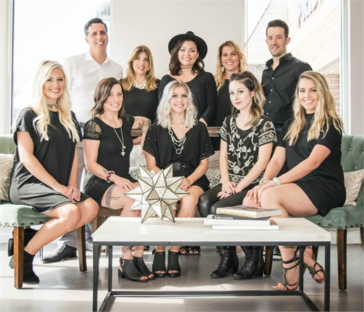 The team from Bespoke Beauty Bar in Wexford, PA.