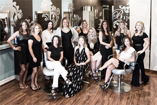 The team from Bijou Salon in Skaneateles, NY.