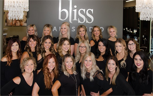 The team from Bliss Hair Studio in Shorewood, Illinois.