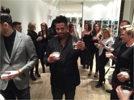 Shannon King toast to opening day of Hair + Co BKLYN.