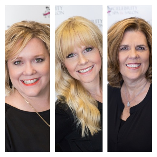 Leah Atkinson Lucas, Laura Atkinson-Wagner, and Cindy Atkinson, owners of Celebrity Spa and Salon in College Station, TX.