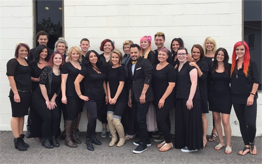 The team from Centre Salon in Lakewood, CO.