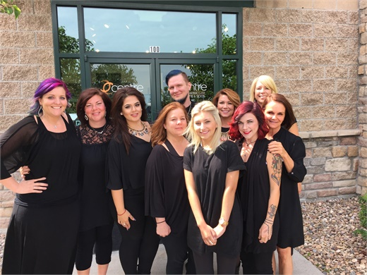 The team from Centre Salon & Spa in Lone Tree, Colorado.