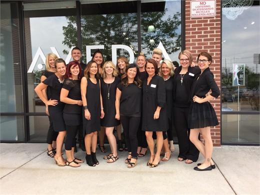 The team from Centre Salon & Spa in Tiffany Plaza in Denver, CO.