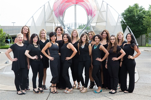 The team from Coiffeteria Salon in Grand Rapids, MI.
